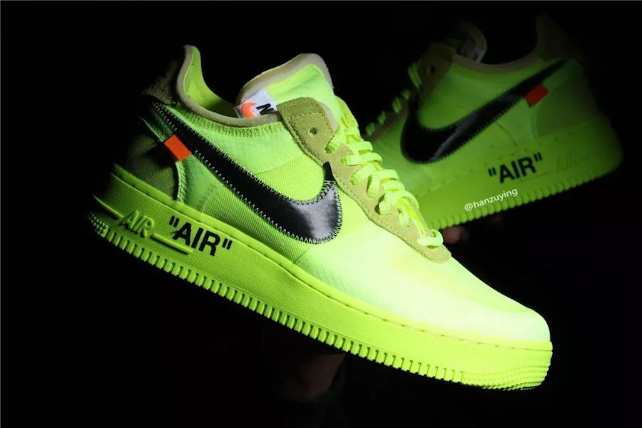 A Closer Look At The Off White x Nike Air Force 1 'Volt