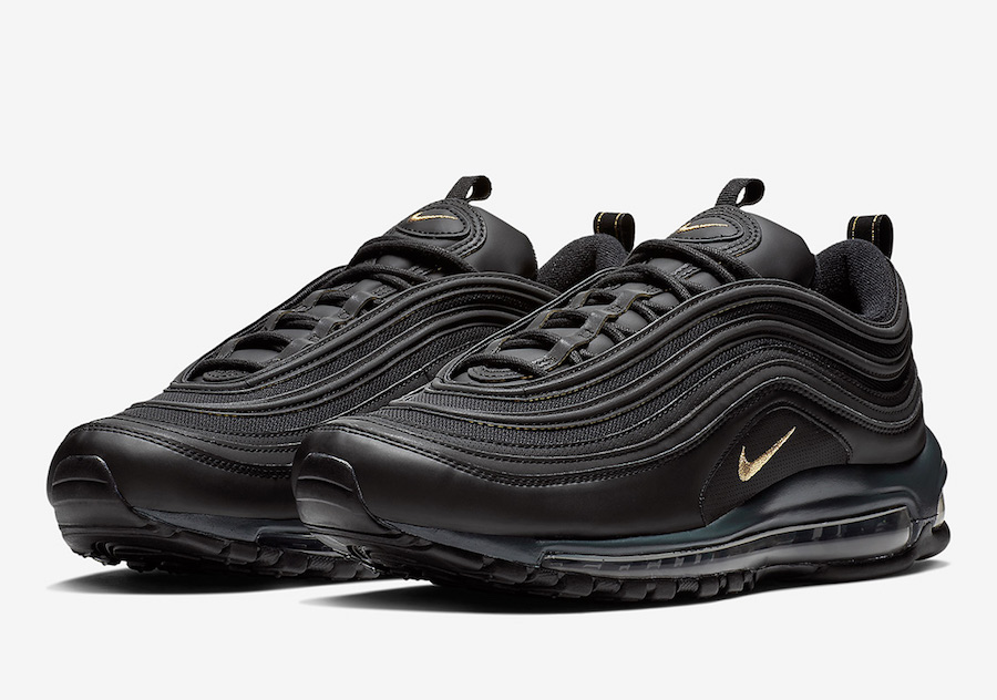 huge selection of 261bc d0016 Nike Air Max 97 Gets Dipped in Black With a Touch of Gold   KaSneaker