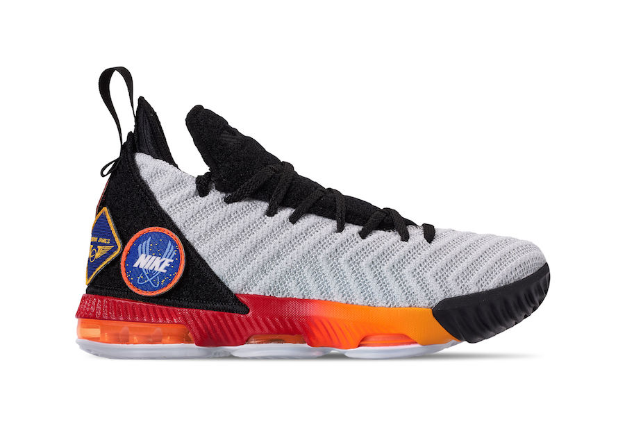 61419400032 This Nike LeBron 16 GS Comes With Removable Patch Logos
