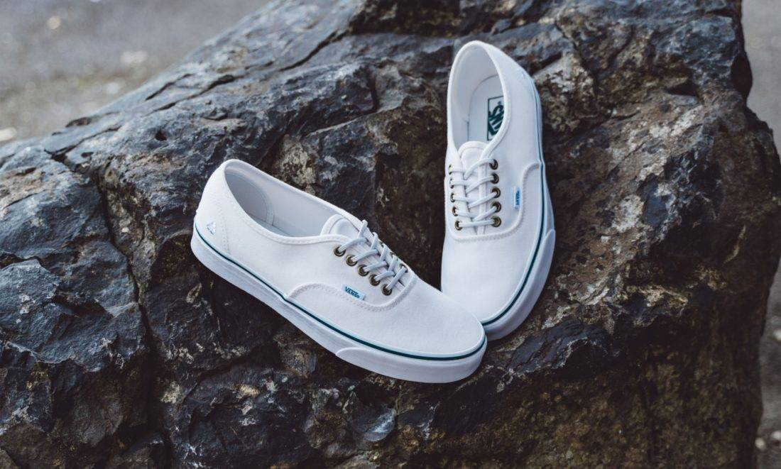 Footwear with recycled materials, Vans