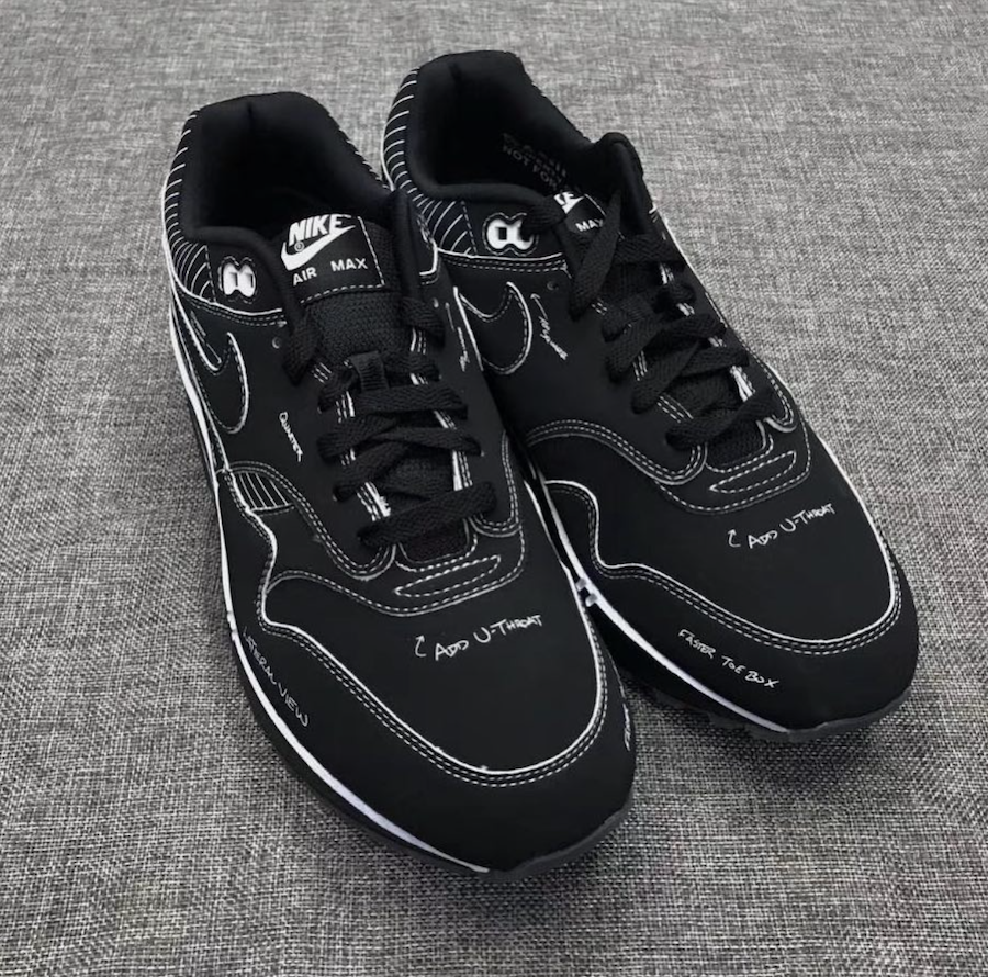There Is Also A Black Colorway Of The Nike Air Max 1 Tinker