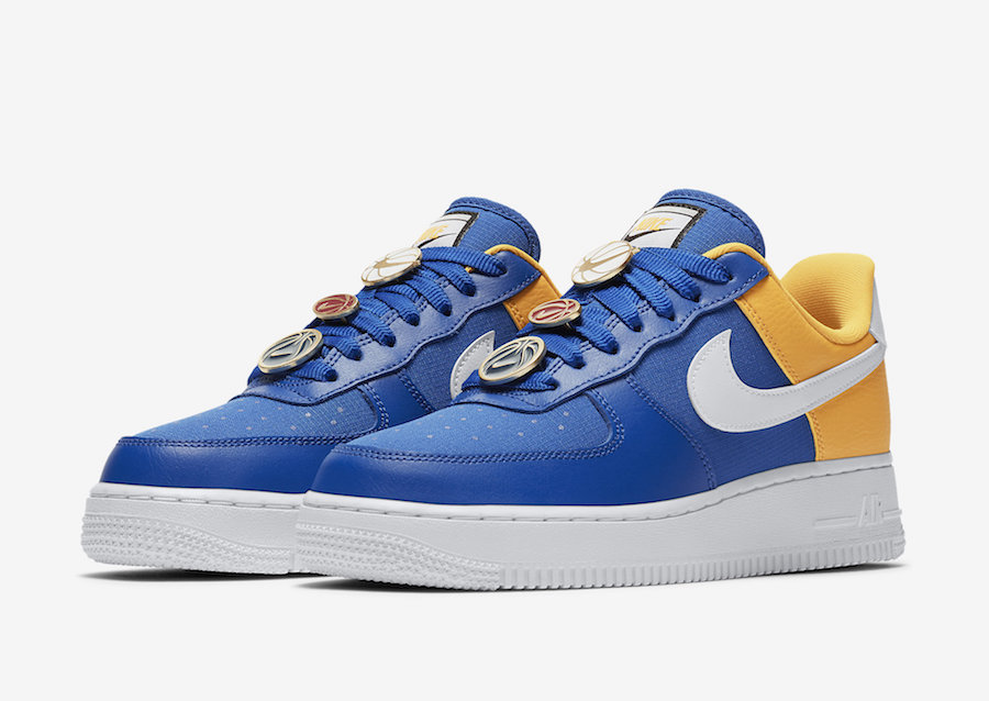 Nike Basketball Lace Locks Land On This Blue And Yellow Nike