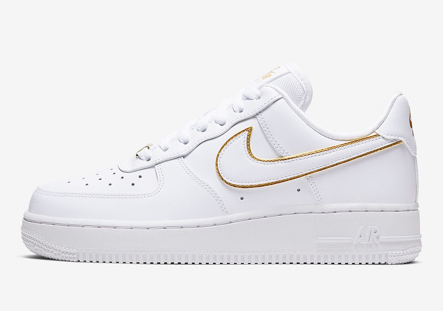 Nike Adds Golden Swoosh Outline on the Air Force 1 Low