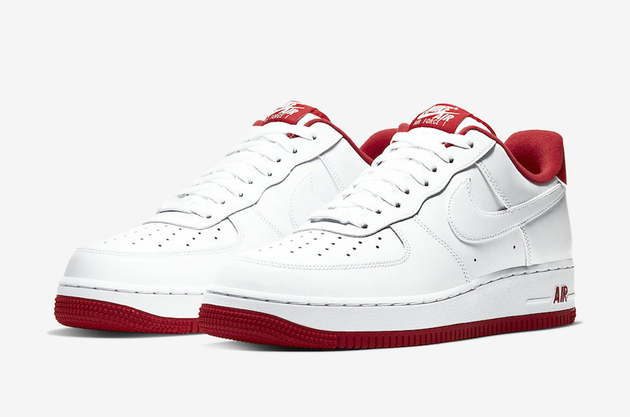 red and white air forces